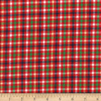 Rustic Woven Check Red/Grn/Yllw