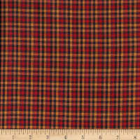 Rustic Woven Plaid Wine/Brwn/Gold