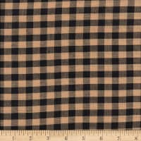 "Rustic Woven 1/4"" Check Natural/Black"