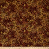 "QT Fabrics Avalon 108"" Wideback Decorative Filigree Brown"