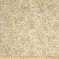 "QT Fabrics Avalon 108"" Wideback Decorative Filigree Cream"