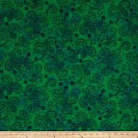 "QT Fabrics Avalon 108"" Wideback Decorative Filigree Green"