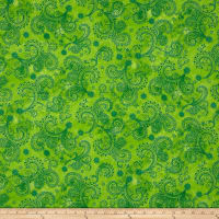 "QT Fabrics Avalon 108"" Wideback Decorative Filigree Lime"