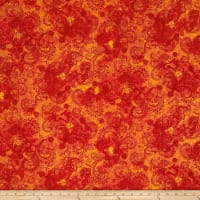 "Avalon 108"" Wideback Decorative Filigree Orange"