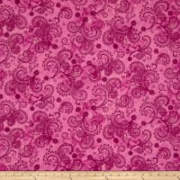 "Avalon 108"" Wideback Decorative Filigree Pink"