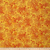 "QT Fabrics Avalon 108"" Wideback Decorative Filigree Gold"