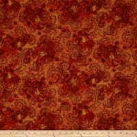 "QT Fabrics Avalon 108"" Wideback Decorative Filigree Rust"