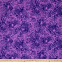"QT Fabrics Avalon 108"" Wideback Decorative Filigree Purple"
