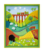 "Along The Countryside 36"" Panel Multi"