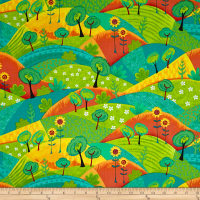 QT Fabrics Along The Countryside Patch Orange