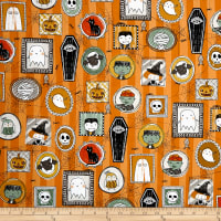 Ink & Arrow Boos & Ghouls Halloween Characters Orange