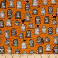 Ink & Arrow Boos & Ghouls Gravestones Burnt Orange