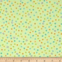 QT Fabrics Dino-Mite Stars Light Green