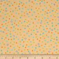 QT Fabrics Dino-Mite Stars Light Melon