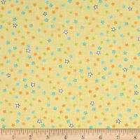 QT Fabrics Dino-Mite Stars Light Yellow