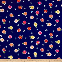 Ink & Arrow June Bee Penelope Tossed Floral Navy