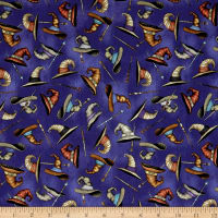 QT Fabrics Spellbound Wizard Hats & Wands Medium Blue