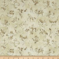 QT Fabrics Spellbound Mystical Beasts Cream