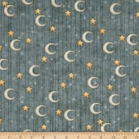 Adrift Star & Moon Stripe Slate