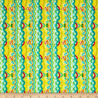 QT Fabrics All A Flutter Scallop Stripe Teal
