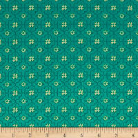 All A Flutter Quatrefoil Teal