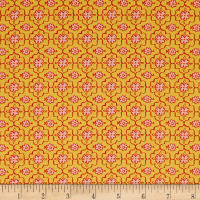 All A Flutter Quatrefoil Yellow