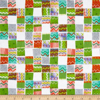 QT Fabrics Alpaca Picnic Blanket Patches White