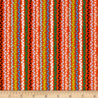 QT Fabrics Alpaca Picnic Triangle Stripe Orange