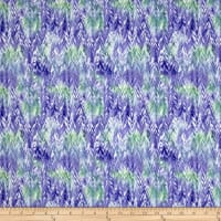 QT Fabrics Belle Watercolor Chevron Purple/Periwinkle