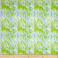 QT Fabrics Belle Watercolor Chevron Periwinkle/Jade
