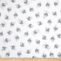 QT Fabrics  Fowl Play Chicken Little Toss Gray