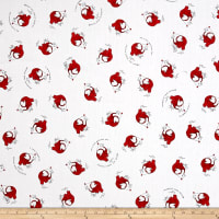 QT Fabrics  Fowl Play Chicken Little Toss Red
