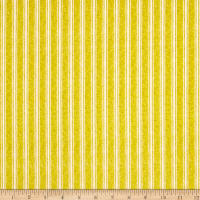 Fowl Play Textured Ticking Stripe Yellow
