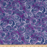 QT Fabrics Jacqueline Scroll Grape