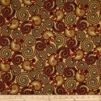QT Fabrics Manor House Paisley Tan