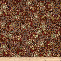 Manor House Paisley Maroon