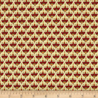 QT Fabrics Manor House Foulard Cream/Brick