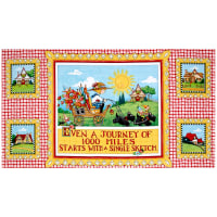 "QT Fabrics Mary's Journey Journey 24"" Panel Multi"