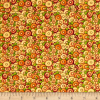 QT Fabrics Mary's Journey Packed Fefs Yellow