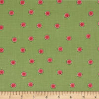 QT Fabrics  Santoro Kori Kumi Melon Drop Watermelon Dots Lt. Green
