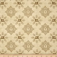 QT Fabrics Seamless Damask Tan