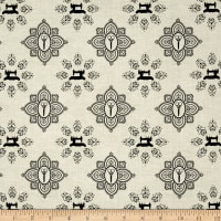 QT Fabrics Seamless Damask Cream