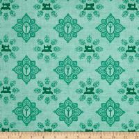 QT Fabrics Seamless Damask Light Teal