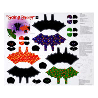"QT Fabrics Sew N Go IV Going Batty Craft 36"" Panel Multi"