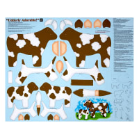 "Sew N Go IV Udderly Adorable Craft 36"" Panel Brown"
