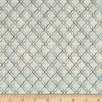 Tranquility Scroll Trellis Blue