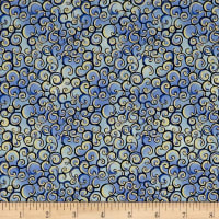 Garden Grandeur Scroll Blue
