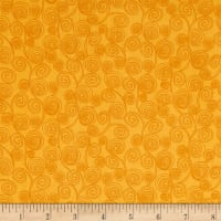 QT Fabrics  Little Squirt Scroll Gold