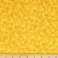 Little Squirt Scroll Dk. Yellow