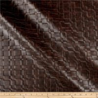 Swavelle Basketweave Faux Leather Chestnut